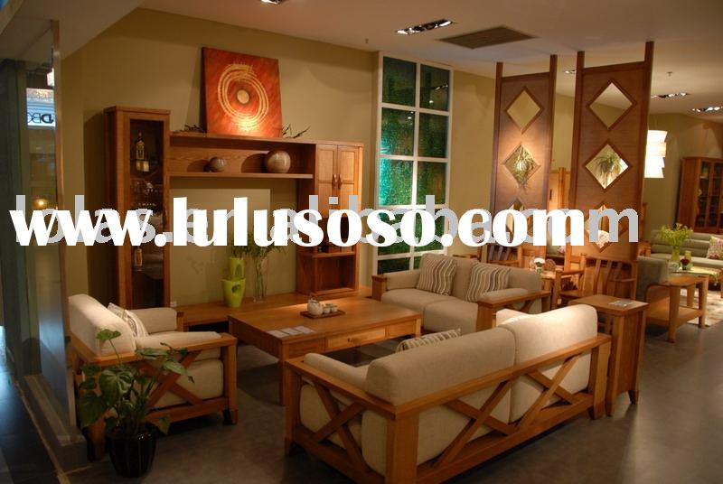 modern style wooden sofa set designs