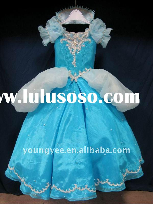 new design ball gown lace embroidred flower girl dress 2011