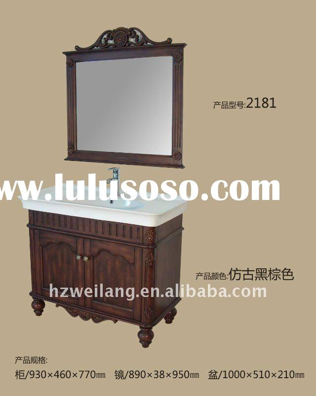 new style antique bathroom cabinet with ceramic basin