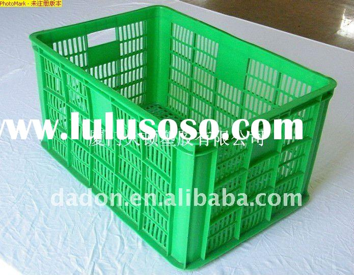 plastic crate basket for food storage