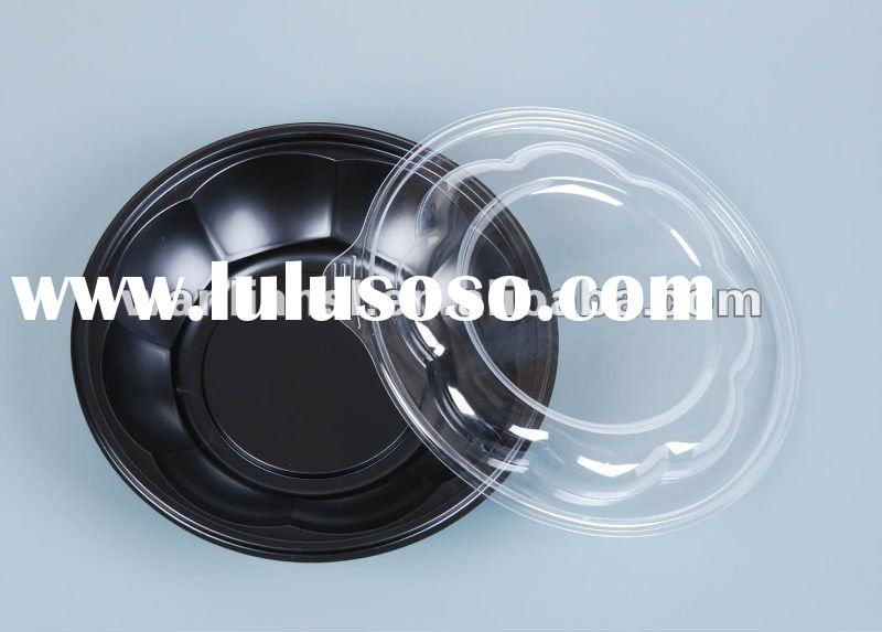 plastic salad bowl with lid