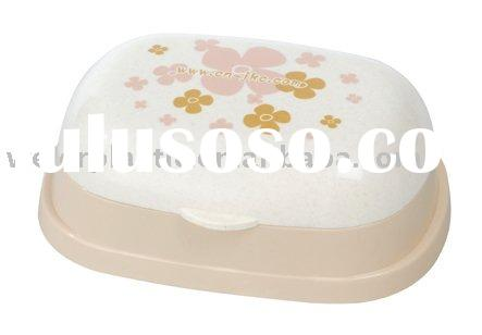 plastic soap dish & holder with cover