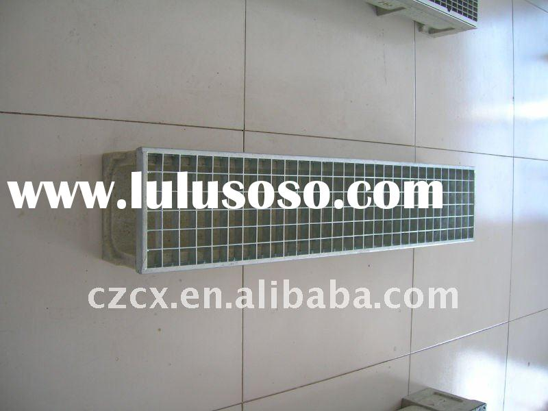 polymer resin concrete drain channel trench with mild steel grating hot galvanized steel grating
