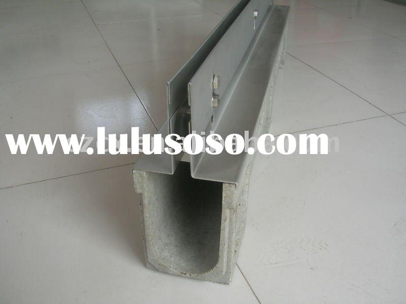 polymer resin concrete drain trench for floorway drainage