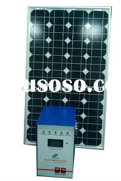 portable solar powered battery charger 100W/12V