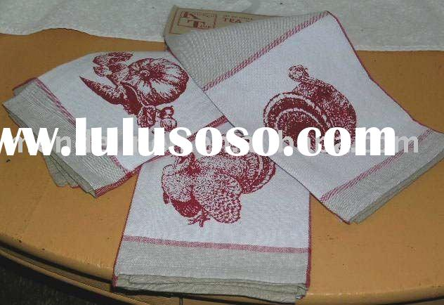 printed Linen Tea Towel dish towel kitchen towel