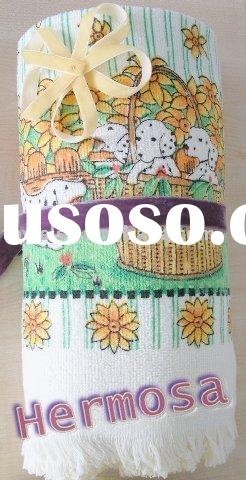 printed cotton tea towel