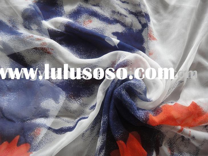 printed silk chiffon fabric