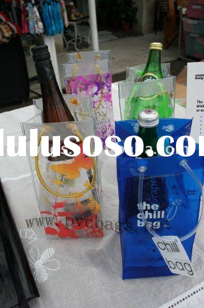 pvc cooler bag for wine bottle