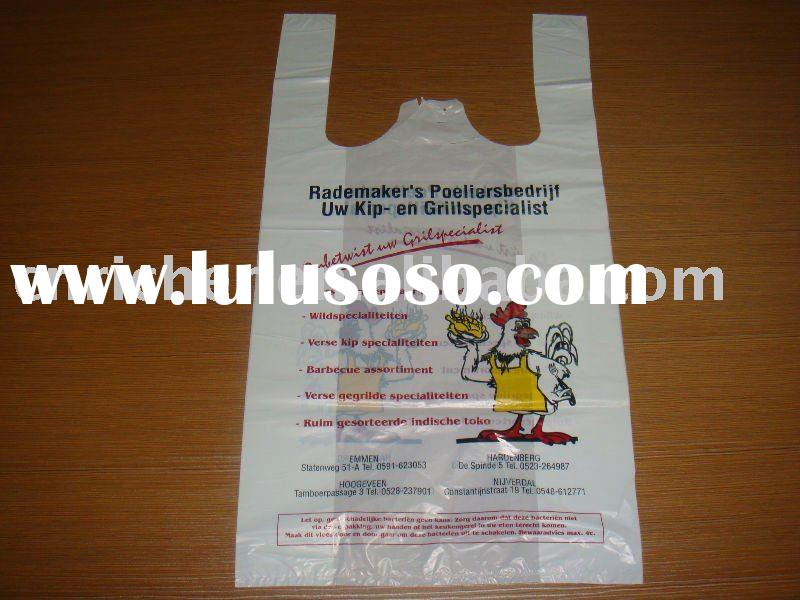 recycle plastic t-shirt bag for shopping