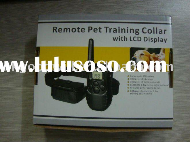 remote pet training collar with led display dog trainning