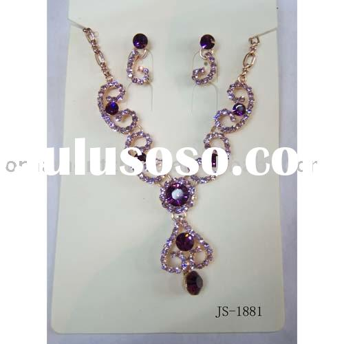 rhinestone necklace sets/alloy jewelry sets /fashion necklace sets/crystal jewelry sets
