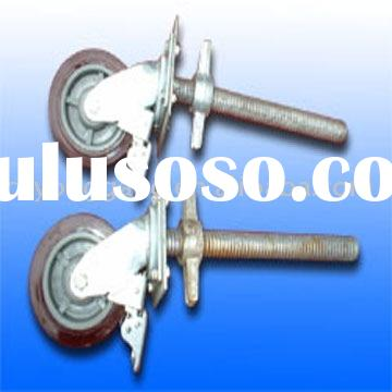 scaffold caster wheel /scaffold caster wheel with brake/rubber wheel/scaffold accessory