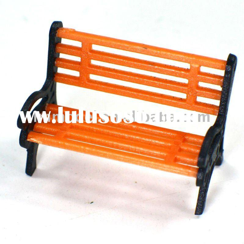 scale bench chair N,OO, HO scale park chair for model train layout