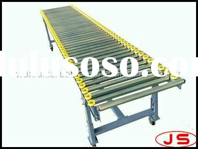 sell roller conveyor with wheel guide and four castors,guide roller conveyor