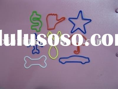 shaped silicone rubber band
