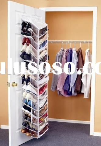 shoes away the over-the-door shoe organizer hanging shoe rack