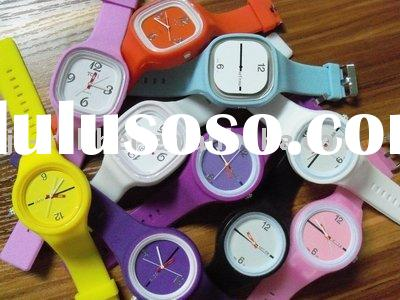 silicone rubber jelly watch /silicone watch bracelet/rubber band for watches