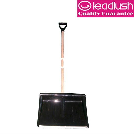 snow shovel, TM354 Plastic snow shovel with wooden handle