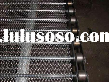 stainless steel conveyor chain driven mesh,wire mesh belt band ,roller chain drive mesh