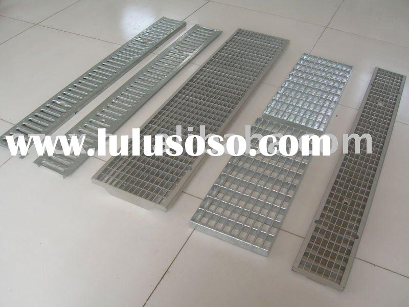 stainless steel grating hot galvanized road drainage grating shower grating swimming pool grating