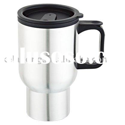 stainless steel inside and plastic outside electric auto mug car cup warmer