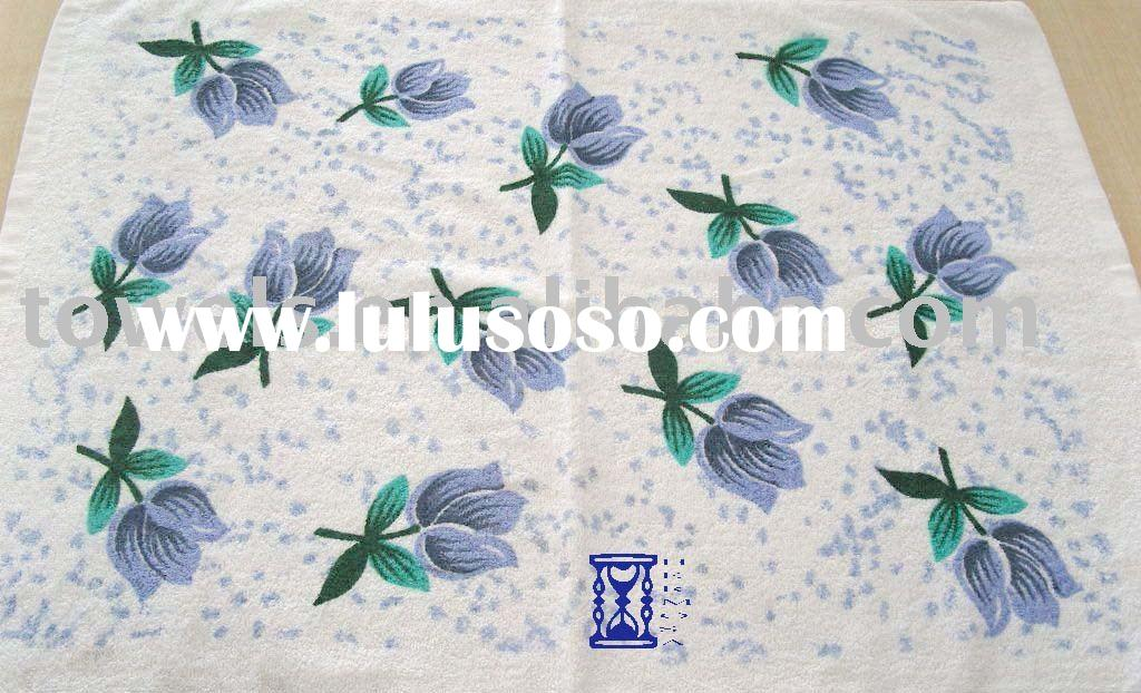 stock printed cotton towel for sale promotion,printed towel,cotton towel