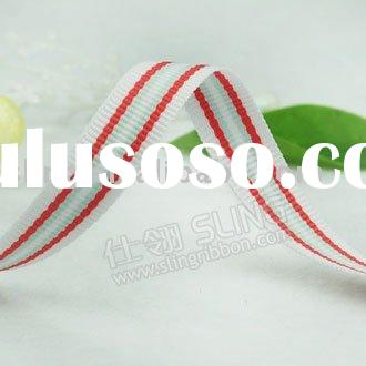stripe ribbon/ribbon/polyester grosgrain ribbon/petersham ribbon/sheer ribbon/printed ribbon/ribbon