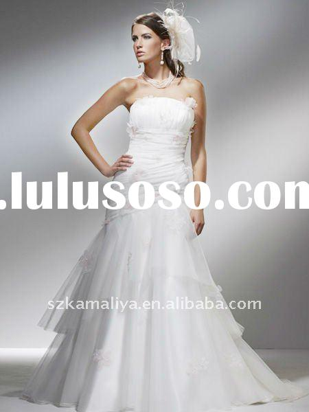 stunning ykk invisible zippers mermaid strapless wedding dress