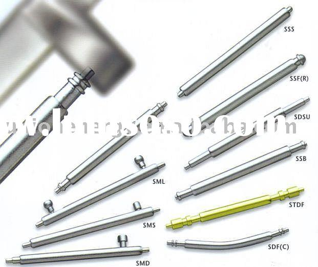 timepieces, watch spring bar or stainless steel spring bar and watch parts
