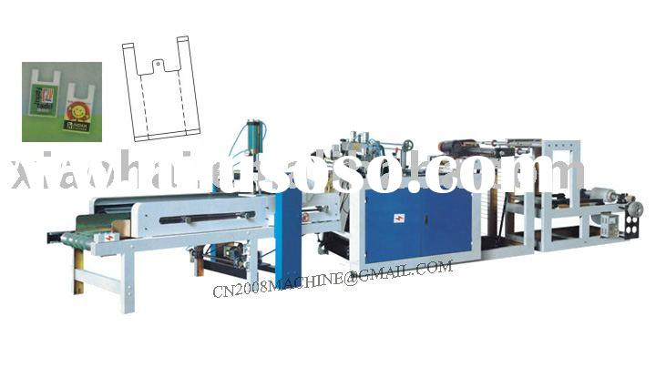 vest bag making machine/bag sealing and cutting machine/plastic shopping bag making machine