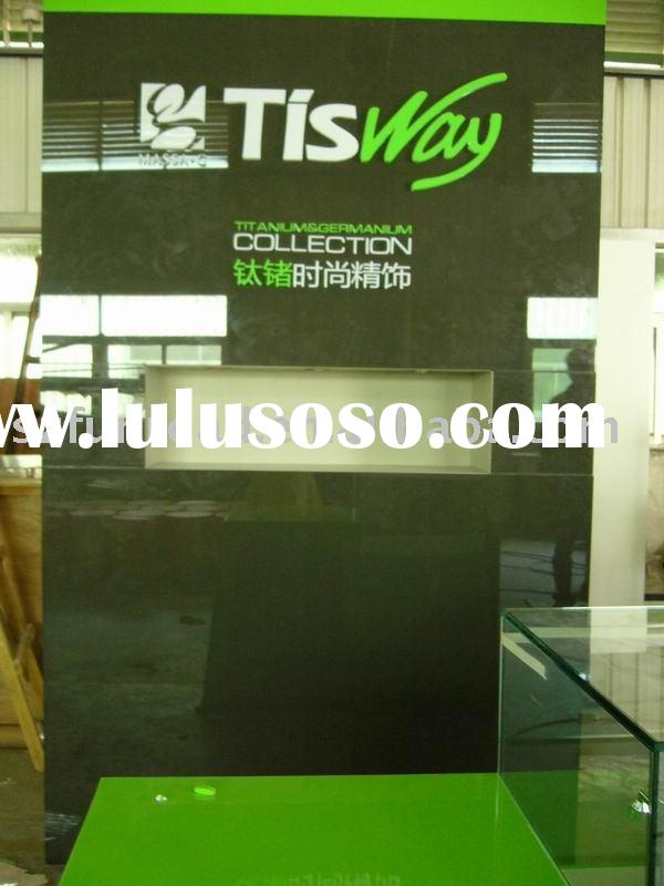 wall display cabinet and logo wall display for jewelry