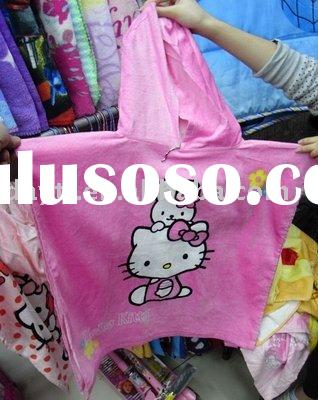 wholesale- free shipping Hello Kitty baby cloak soft bath towels E002