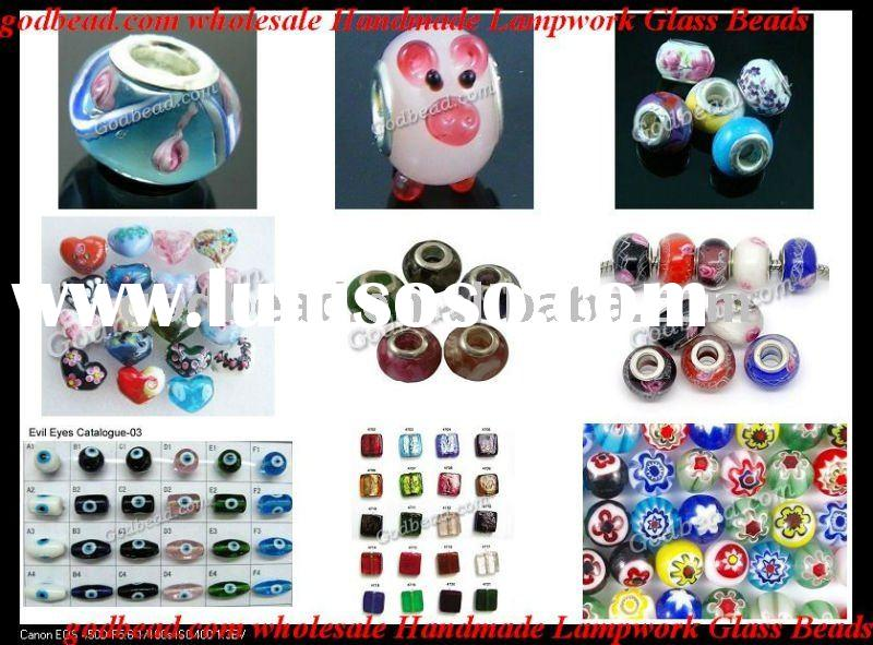 wholesale handmade lampwork glass beads,glass jewelry,lampwork bead for jewelry