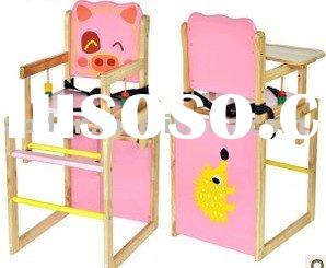 wooden baby high chair WBHC01