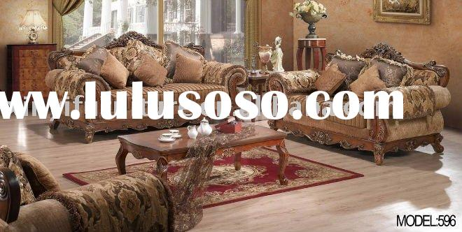 wooden sofa set living room furniture 596 (1+2+3)