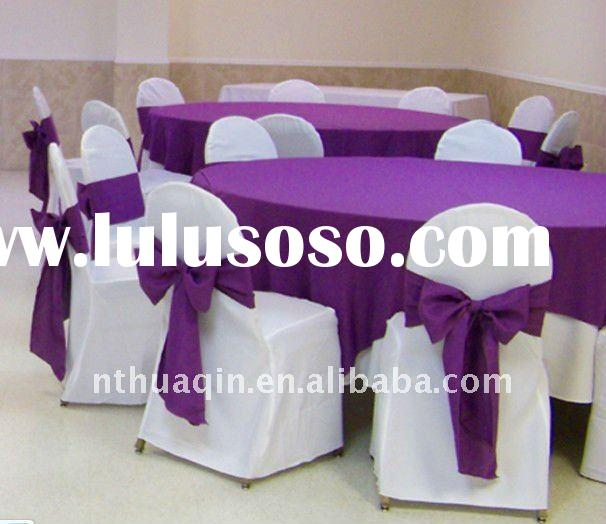 100%polyester table linens and wedding polyester banquet chair covers
