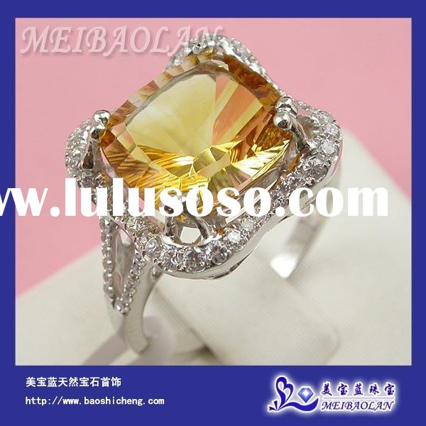 10k Gold Jewelry,Fine Gemstone Jewelry-10K Gold Natural Citrine Excellent Ring(AB0078)