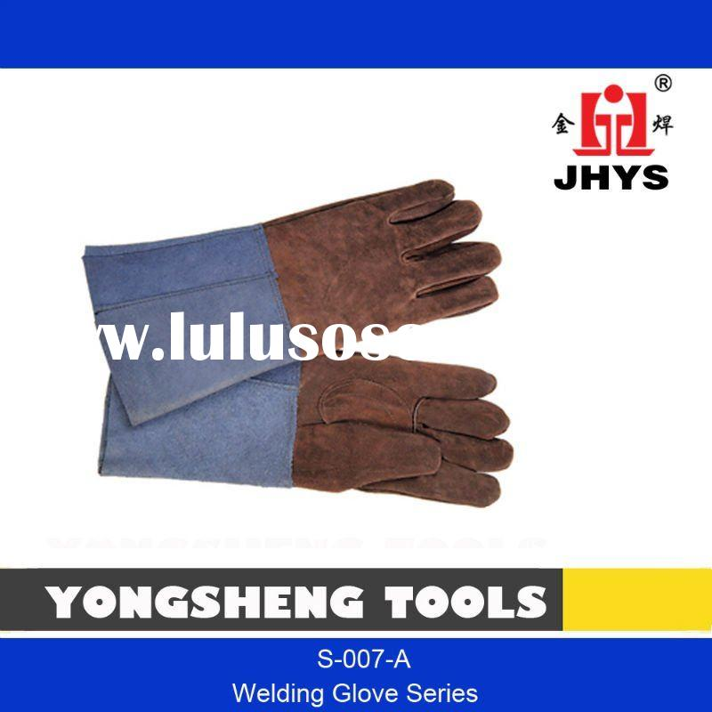 "14"" COLORED UNLINED COW LEATHER WELDING SAFETY GLOVE"