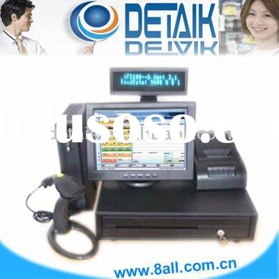 "15"" All in One Integrated Restaurant POS Hardware Solution ( Touch POS ) credit card terminal"