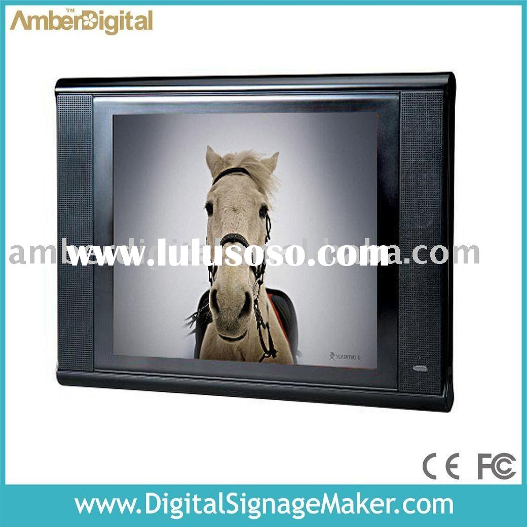 "15"" Retail Ad Screen, POS Video Player, POS Screen, Point of Sales Monitor with USB Auto update"