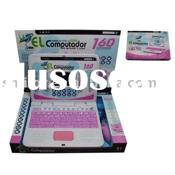 160 functions Children's Educational Laptop Computer in Spanish Version,with mouse and large