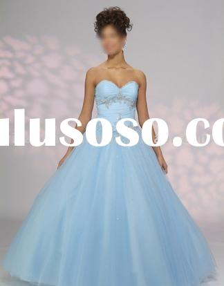 2010 collection evening wear light blue strapless prom dress PM2