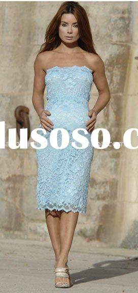 2010 new blue lace Maternity evening dresses Pregnant dress,prom dresses, mp023