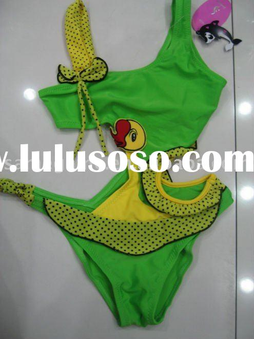 2011 New young girl's swimsuit, Kid's fashion swimwear, one-piece swimwear