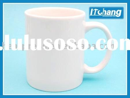 2011 Top Quality blank white ceramic coffee mug in coated surface for printing