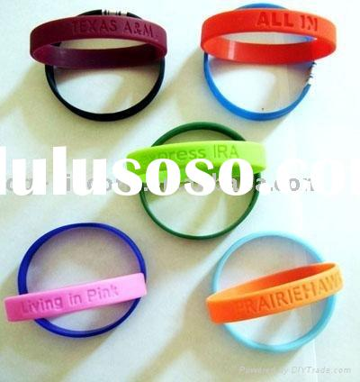 2012 Colorful best selling cheap custom silicone bracelets