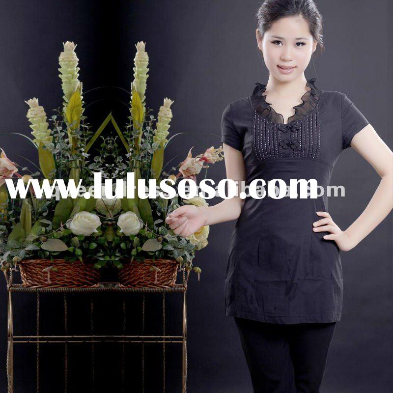 2012 Summer Black Blouses & Tops For Laides