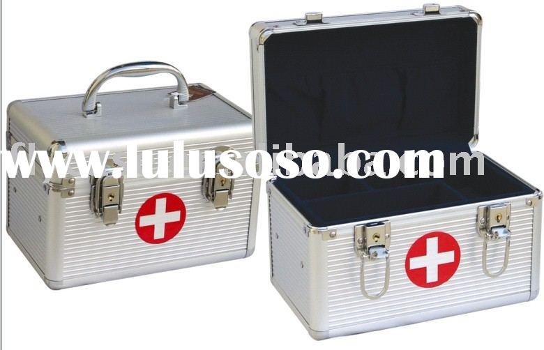 2012 first aid kit case,aluminum medical case ,medical box ,emergency box