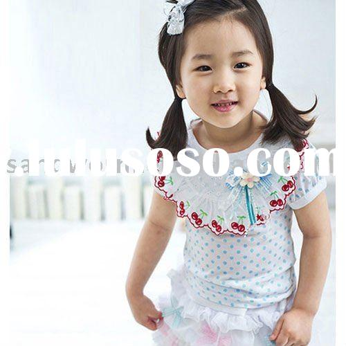 2012 korean children clothing of girls t-shirts
